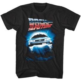 Jack of all Trades Tee-Shirt - Back to the Future - DeLorean avec Logo Noir