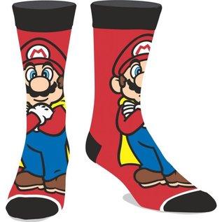 Bioworld Chaussettes - Nintendo Super Mario World - Mario avec Cape Rouges et Noires 1 Paire Crew
