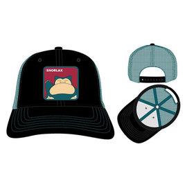Bioworld Baseball Cap - Pokémon -  Snorlax Patch Blue and Black Trucker Adjustable