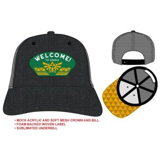 Bioworld Casquette - The Legend of Zelda - Patch Welcome! to HyruleTrucker Ajustable