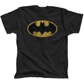Bioworld T-Shirt - DC Comics Batman - Classic Logo Vintage Black