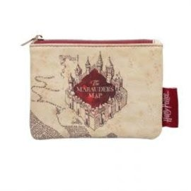 Warner Bros. Coin Pouch - Harry Potter - Marauder's Map Beige Faux Leather