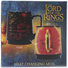 Half Moon Bay Tasse - The Lord of the Rings - Carte de la Terre du Milieu et l'Oeil de Sauron Réactive à la Chaleur 16oz