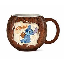 Silver Buffalo Tasse - Disney Lilo & Stitch - Stitch Aloha Noix de Coco 3D 12oz