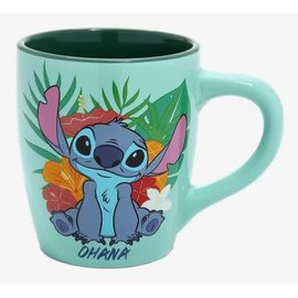 Silver Buffalo Tasse - Disney Lilo & Stitch - Stitch avec Fleurs Ohana Jumbo 25oz