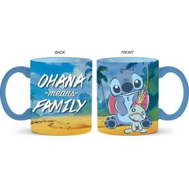Silver Buffalo Tasse - Disney Lilo & Stitch - Stitch et Scrump Ohana Means Family 14oz
