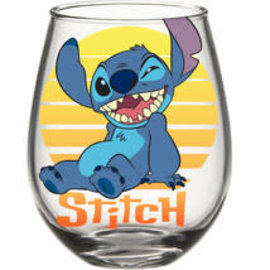 Silver Buffalo Verre - Disney Lilo & Stitch - Stitch au Coucher de Soleil 16oz