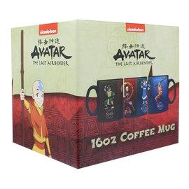 AbysSTyle Tasse - Avatar The Last Airbender - Aang, Katara, Zuko et Toph Réactive à la Chaleur 16oz
