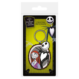 Pyramid International Keychain - Disney The Nightmare Before Christmas - Jack and Sally Rubber