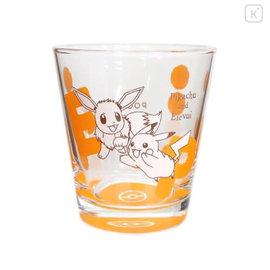 ShoPro Glass - Pokémon Pocket Monsters - Pikachu and Eevee/Eievui Orange Dots Glass Tumbler 260ml