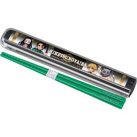 Skater Chopsticks - Demon Slayer: Kimetsu no Yaiba - Tanjiro, Nezuko, Inosuke and Zenitsu 18cm with Case