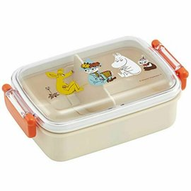 Skater Bento Box - The Moomins - Snif, Snuffkin, Moomintroll and Little My with Divider 450ml