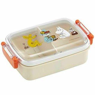 Skater Boîte Bento - The Moomins - Snif, Snuffkin, Moomintroll et Little My avec Séparateur 450ml