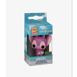 Funko Funko Pocket Pop! Keychain - Disney Lilo & Stitch - Angel (Diamond Collection) *Hot Topic Exclusive*
