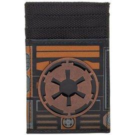 Bioworld Card Holder - Star Wars - Empire Logo Metal Black Faux Leather