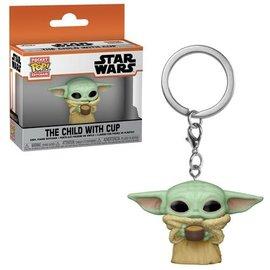 "Funko Funko Pocket Pop! Keychain - Star Wars The Mandalorian - The Child with Cup Grogu ""Baby Yoda"""