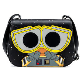 """Loungefly Purse - Disney Pixar Wall-E - Wall-E and Eve with Plant """"Earth Day"""" Funko Pop! Crossbody Bag Faux Leather"""