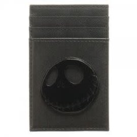 Bioworld Card Holder - Disney The Nightmare Before Christmas - Jack Skellington Metal Black Faux Leather