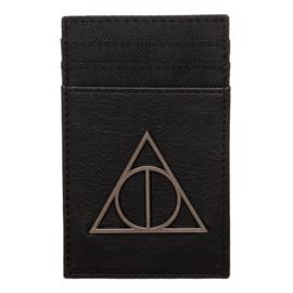 Bioworld Porte-Cartes - Harry Potter - Les Reliques de la Mort en Métal Noir en Faux Cuir