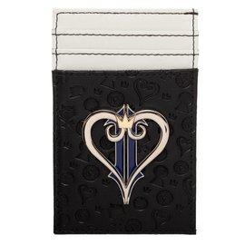 Bioworld Porte-Cartes - Disney Kingdom Hearts - Logo en Métal Noir Faux Cuir
