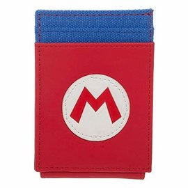 Bioworld Porte-Cartes - Nintendo Super Mario Bros. - Logo avec Flap Aimanté en Faux Cuir