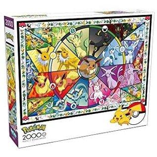 Buffalo Casse-tête - Pokémon - Les Évolutions d'Eevee Style Vitrail 2000 pièces