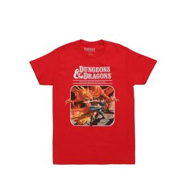 Bioworld T-Shirt - Dungeons & Dragons - Original Cover of the First Edition Red