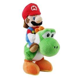 "San-Ei Peluche - Nintendo Super Mario - Mario Chevauche Yoshi 8"""