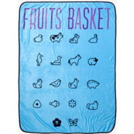 Surreal Entertainment Blanket - Fruits Basket - Zodiac Animals Fleece Throw