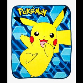 Northwest Company Couverture - Pokémon - Pikachu Heureux Jeté en Peluche