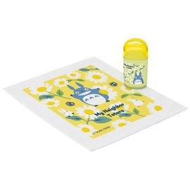 Skater Hand Towel - Studio Ghibli My Neighbor Totoro - Totoro, Chuu and Chibi with Daisies with Case