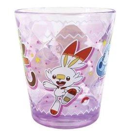 Tsujiseru Verre - Pokémon Pocket Monsters Sword and Shield - Starters Mauve Tumbler en Acrylique Transparent 8oz