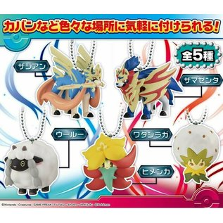 Takara Tomy Boîte mystère - Pokémon Sword and Shield - Région de Galar Mini Figurine Porte-clés