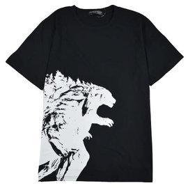 Toho Co ltd. Tee-Shirt - Godzilla VS. Kong - Godzilla Silhouette Blanche sur Noir