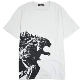 Toho Co ltd. T-Shirt - Godzilla VS. Kong - Godzilla Black Silhouette on White