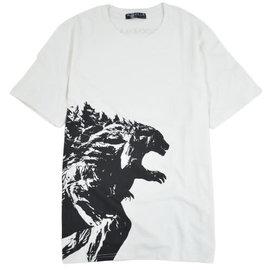 Toho Co ltd. Tee-Shirt - Godzilla VS. Kong - Godzilla Silhouette Noire sur Blanc
