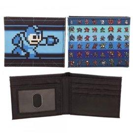 Bioworld Portefeuille - Capcom Mega Man - Style 8-Bit Bleu et Noir en Tissu Bifold