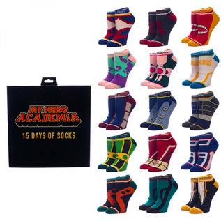 Bioworld Chaussettes - My Hero Academia - 15 Days of Socks Ensemble de 15 Paires Courtes Chevilles
