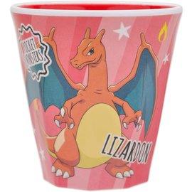 ShoPro Glass - Pokémon Pocket Monsters - Charizard/Lizardon Orange Acrylic Tumbler 8oz