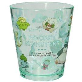 "ShoPro Glass - Pokémon Pocket Monsters - ""Team Green"" Clear Acrylic Tumbler 8oz"