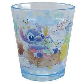 ShoPro Glass - Disney Lilo & Stitch - Stitch and Scrump with Ducks Blue Clear Acrylic Tumbler 8oz