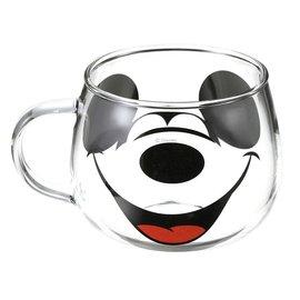Sun Art  Seto Mug - Disney Mickey Mouse - Mickey's Face Transparent Glass 11oz