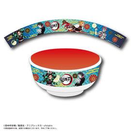ShoPro Bowl - Demon Slayer: Kimetsu no Yaiba - Tanjiro, Rengoku, Azaka and Enmu Blue for Donburi in Melamine