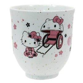 Sanrio Tasse - Sanrio Hello Kitty - Hello Kitty Geisha avec Pousse-Pousse et Sakura Yunomi pour le Thé 10oz