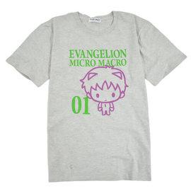 Sanrio Tee-Shirt - Neon Genesis Evangelion - Micro Macro Chibi Shinji 01 Gris