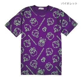 Sanrio Tee-Shirt - Neon Genesis Evangelion - Micro Macro Chibi Shinji, Asuka et Rei Mauve