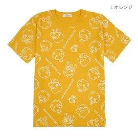 Sanrio Tee-Shirt - Neon Genesis Evangelion - Micro Macro Chibi Shinji, Asuka et Rei Jaune
