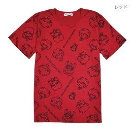 Sanrio Tee-Shirt - Neon Genesis Evangelion - Micro Macro Chibi Shinji, Asuka et Rei Rouge