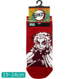 Aniplex Chaussettes - Demon Slayer: Kimetsu no Yaiba - Rengoku Kyojuro Rouges 1 Paire Courtes Chevilles