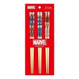 Disney Entreprise Baguettes - Marvel - Captain America, Iron Man et Spider-Man Ensemble de 3 Paires 21cm